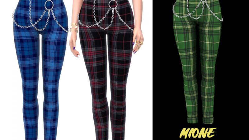 Grafity-CC – Mione Belted Pants with Chains