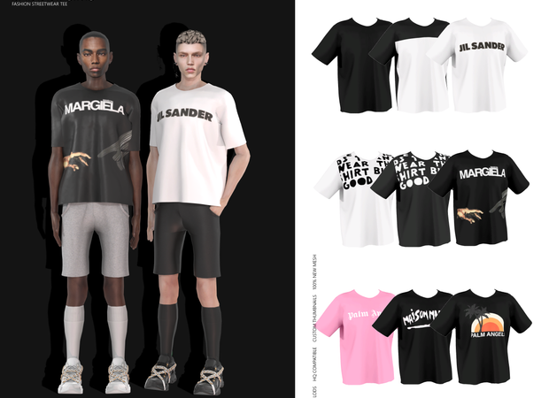 Baddiesims – Fashion Streetwear Tee (Male Version)