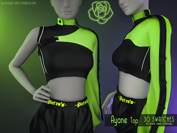 Bluerose-Sims – Ayane Top