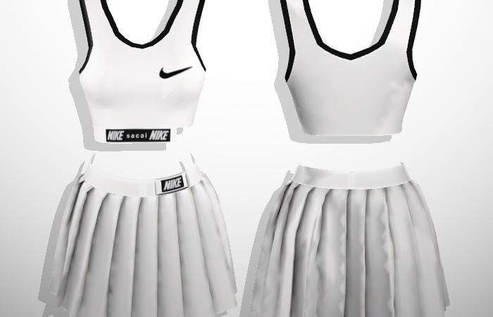Baddiesims – Nike x Sacai Sporty Set