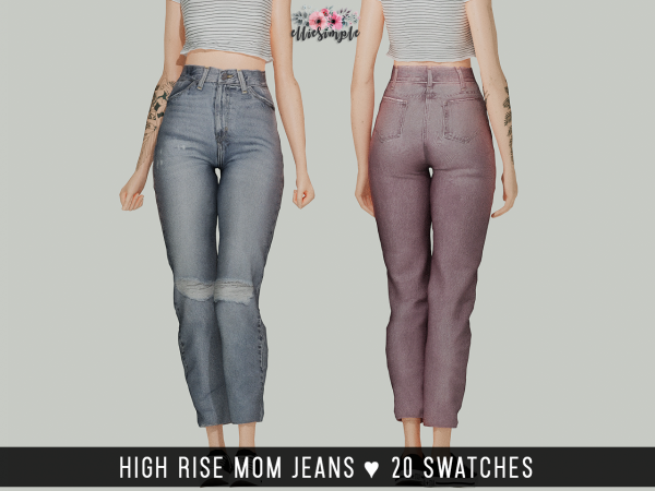 Elliesimple – High Rise Mom Jeans