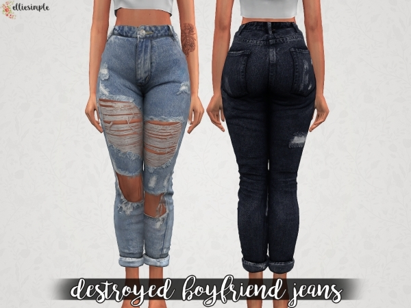 Elliesimple – Destroyed Boyfriend Jeans
